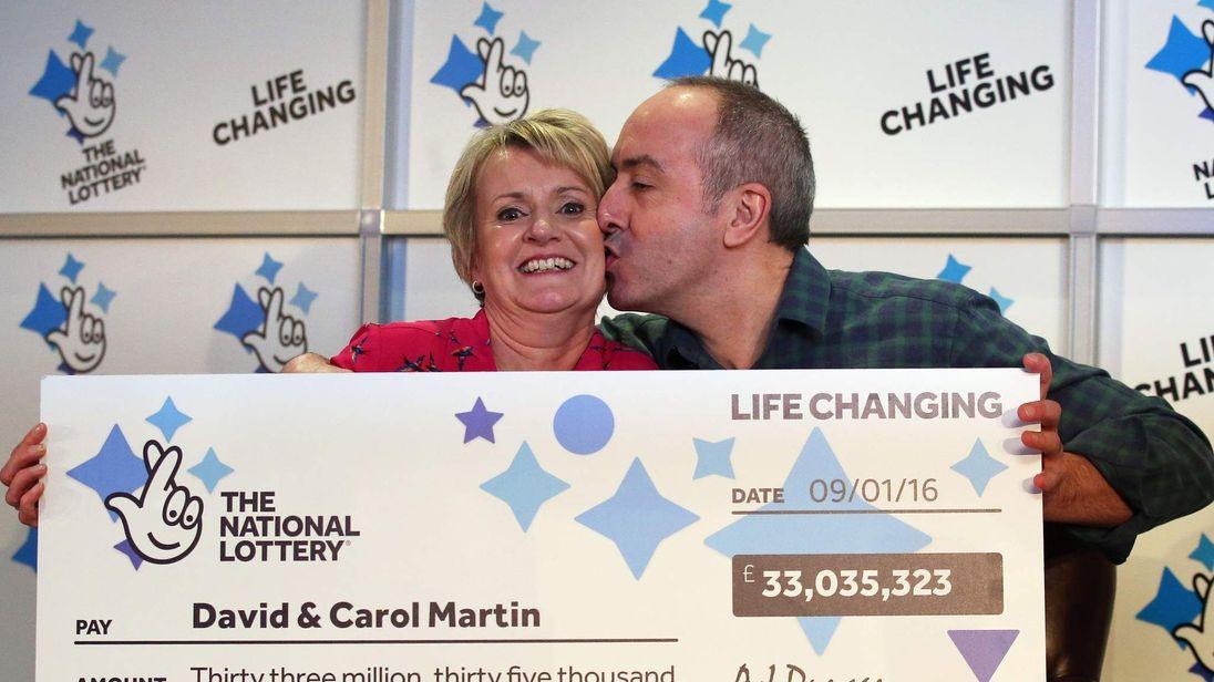Lotto jackpot winners