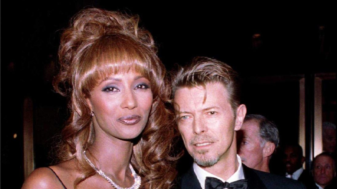 David Bowie with wife Iman in 1994