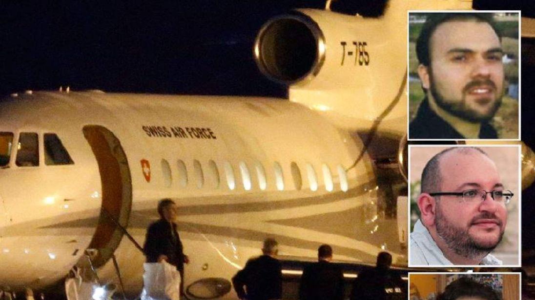 Plane lands in Genenva