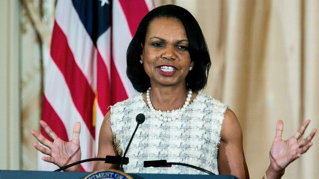 John Kerry Unveils Portrait Of Condoleezza Rice At State Department