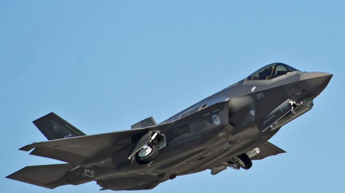 An F-35A Lightning II Joint Strike Fighter