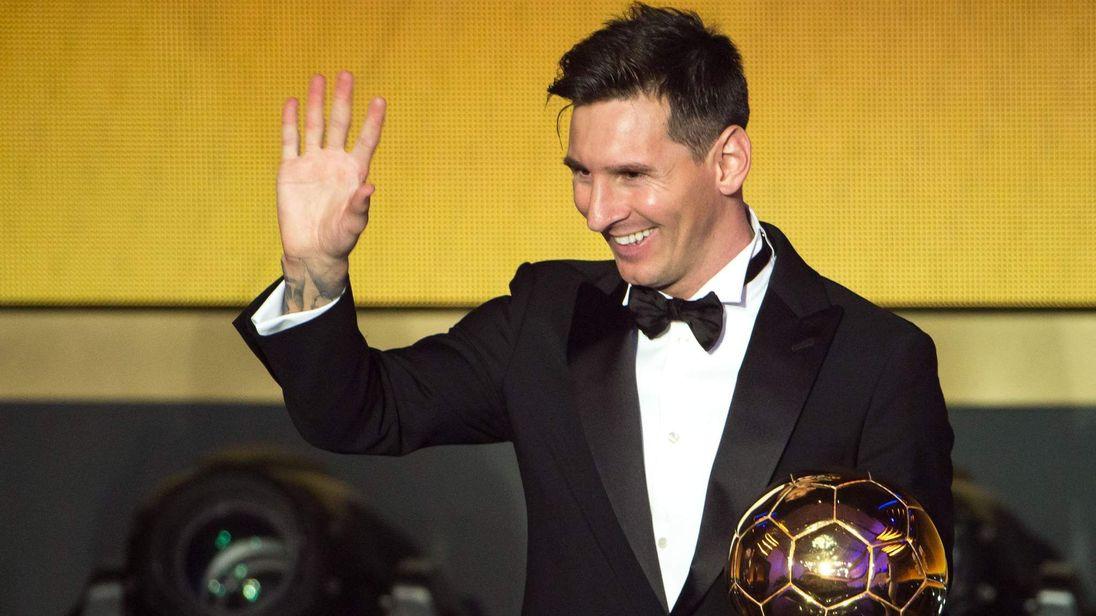 Lionel Messi wins the Ballon d'Or.