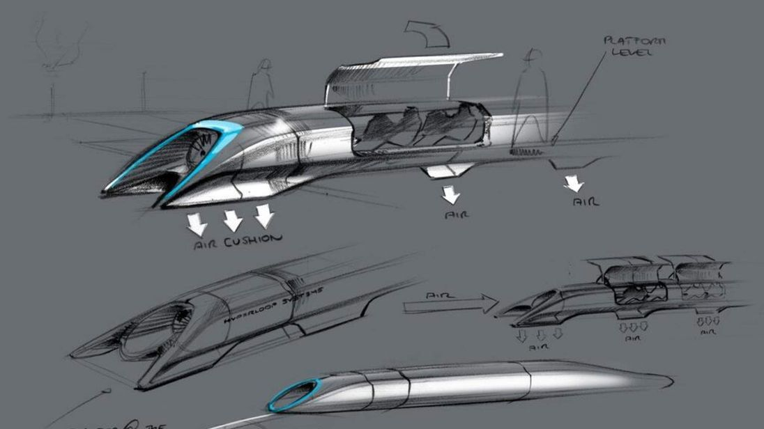 Basic blueprint for a supersonic 'Hyperloop' transport system