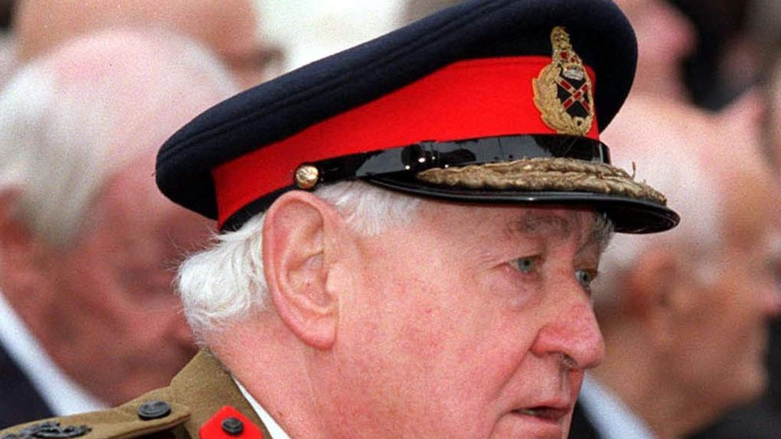 File photo of Lord Bramall, the UK's former highest-ranking soldier.