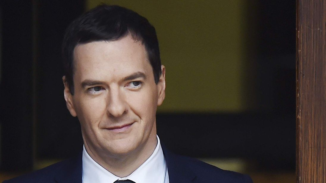 Chancellor George Osborne Spending Review