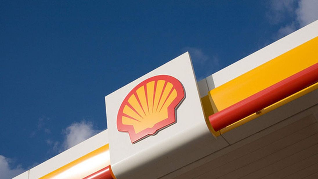Shell Service Station Sign