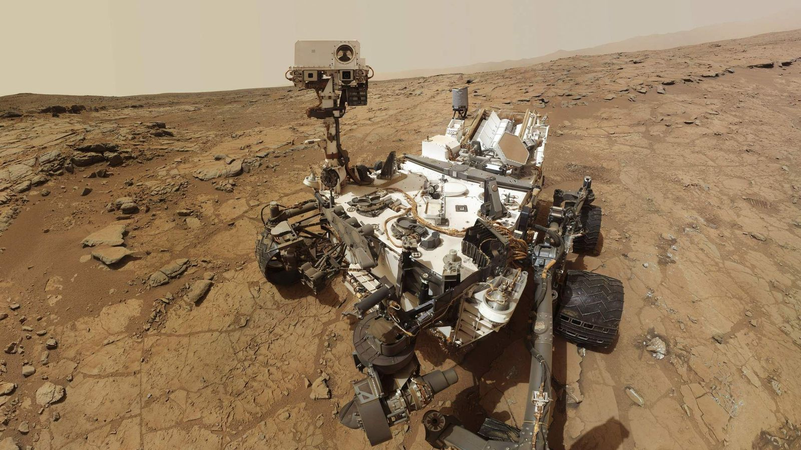 NASA's Mars rover Curiosity is pictured in this handout self-portrait