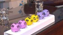 Winning lottery balls