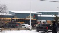 Scene of La Loche school shooting