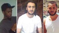 (L-R) Nyall Hamlett, Suhaib Majeed and Tarik Hassane