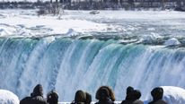 Extreme Cold Freezes Parts Of Niagara Falls