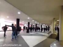 Masked men in Stockholm, Sweden
