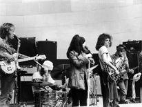 Jefferson Airplane Perform On Stage