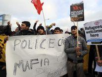Migrants' protest