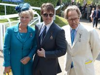 Actor Tom Cruise with Lord and Lady March at Glorious Goodwood
