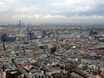 St. Stephens cathedral is pictured from the highest bungee jump crane in the world in Vienna
