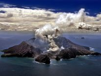 New Zealand's most active volcano, Whakarri (White Island)