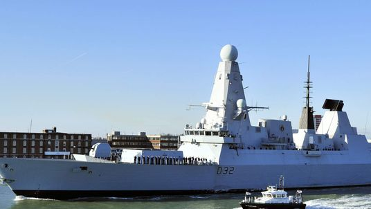 New British Royal Navy destroyer HMS Daring