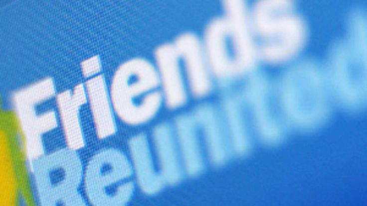 screengrab of the Friends Reunited website