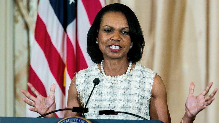 John Kerry Unveils Portrait Of Condoleezza Rice At State Department