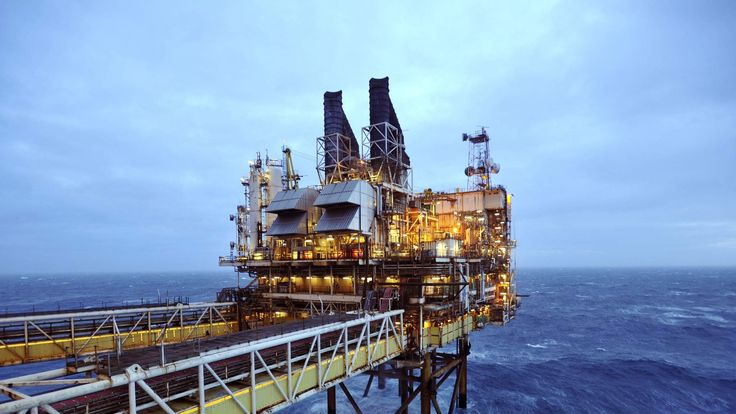 A section of the BP Eastern Trough Area Project oil platform is seen in the North Sea, around 100 miles east of Aberdeen