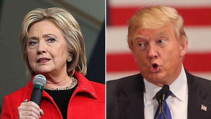 Hillary Clinton and Donald Trump campaign in Iowa