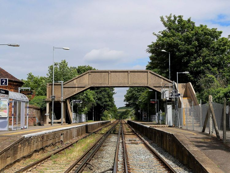 A general view of Chartham railway station in Kent