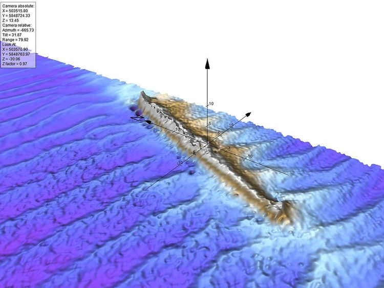 U-boat uncovered on seabed