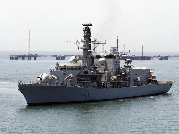 HMS St Albans at sea