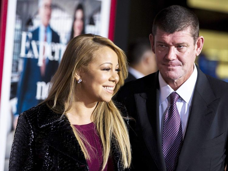 Mariah Carey with billionaire James Packer