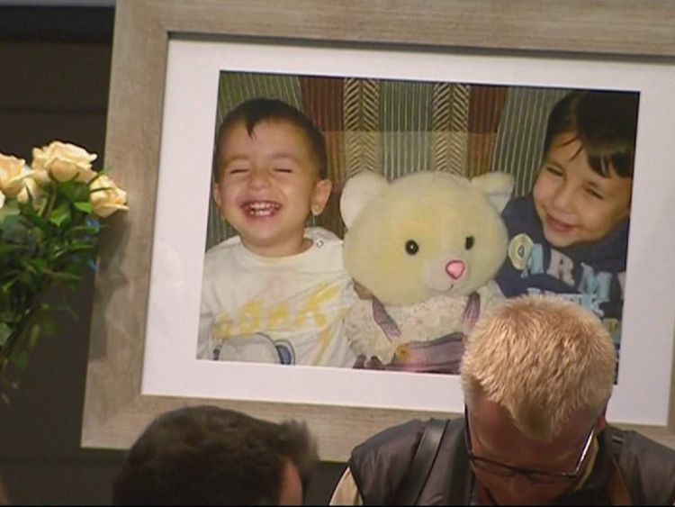 Memorial service for Aylan Kurdi, brother Galip and mother Rehanna