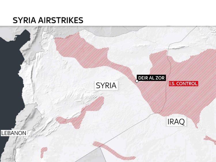 Coalition airstrikes