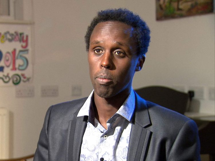 Mohammed Ahmed brother of rape victim Faisa Ahmed talking to Sky News