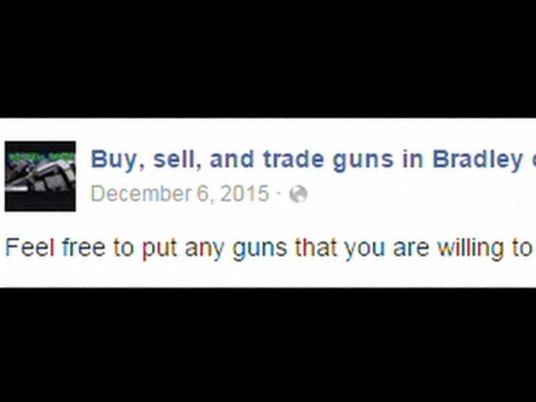 Facebook online gun sales