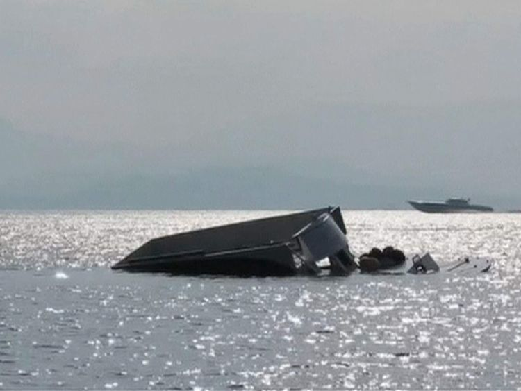 The boat capsized off the Turkish coast