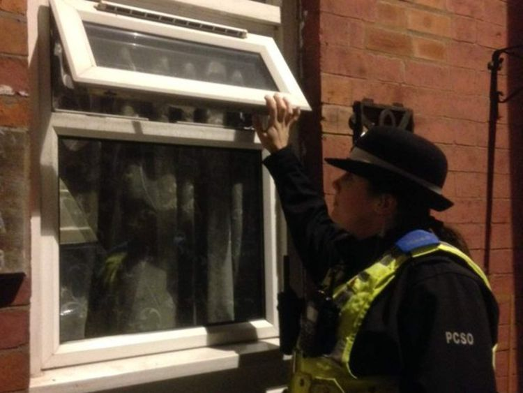 Coventry police tweet images of unlocked properties