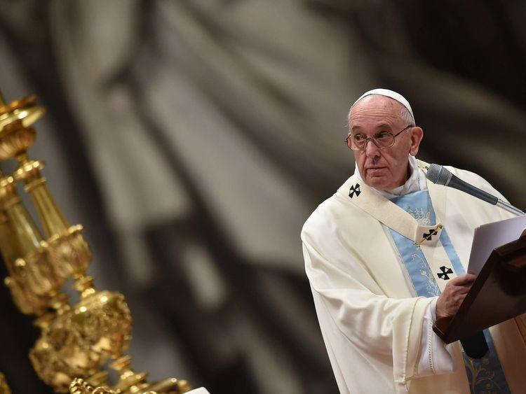 VATICAN-POPE-MASS-NEW YEAR