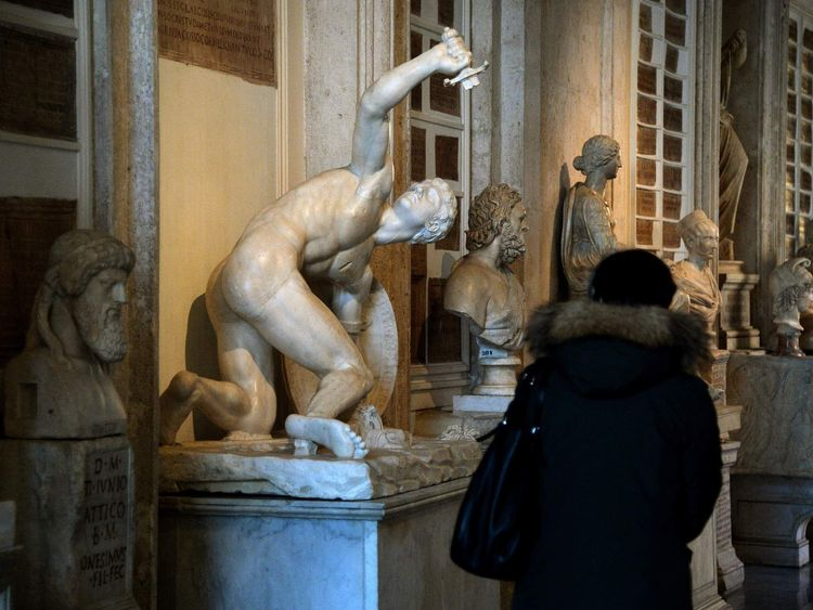 ITALY-IRAN-DIPLOMACY-ART-SCULPTURES