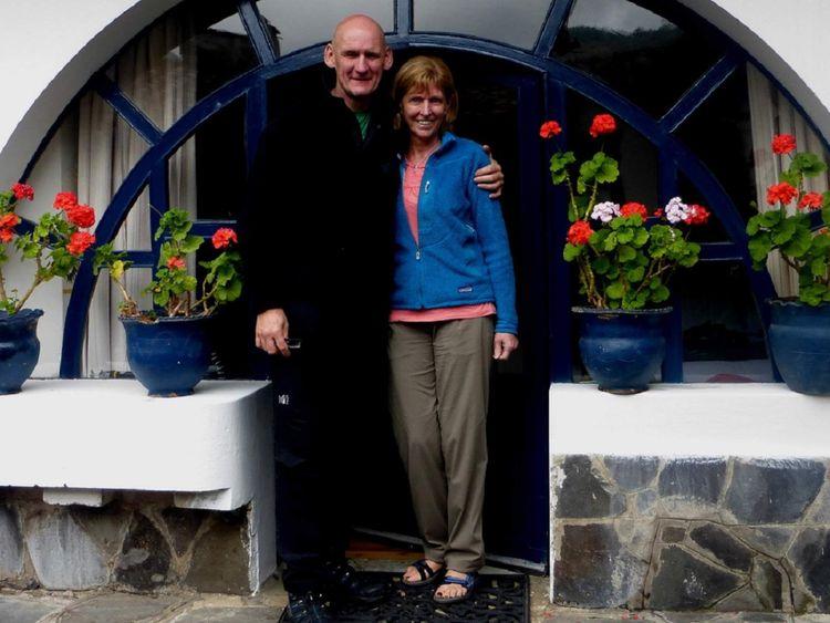 Ian Johnston and Sadie Hartley in Ecuador in 2013.