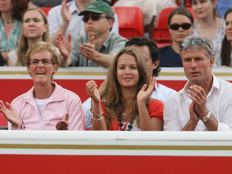 Judy, Murray, Kim Sears and Nigel Sears