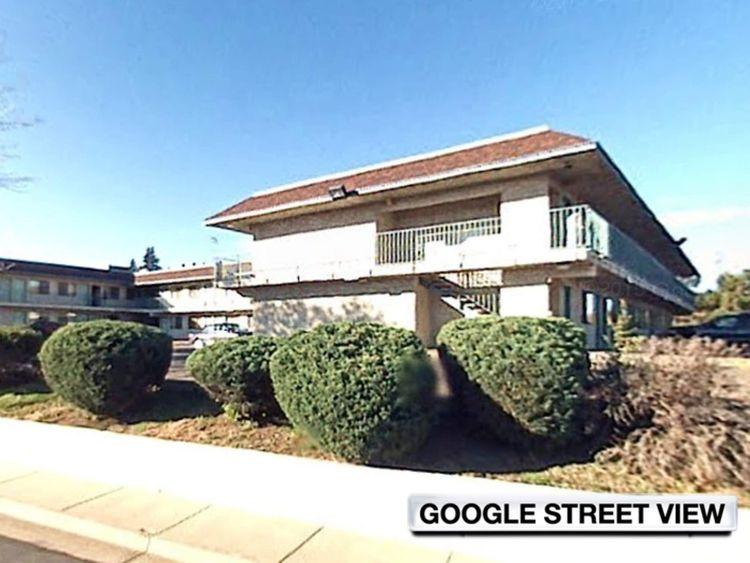 The motel where Myloh Jaqory Mason was caught by the FBI