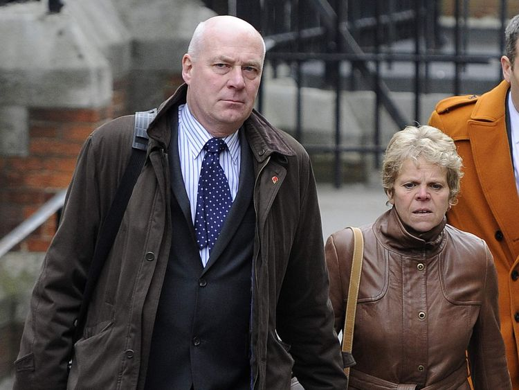 Bob and Sally Dowler arriving for the Leveson Inquiry