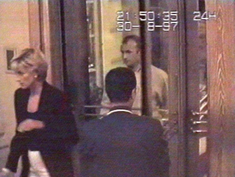 PRINCESS DIANA ENTERS THE RITZ HOTEL IN PARIS