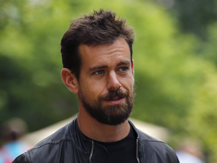 Jack Dorsey, interim CEO of Twitter and CEO of Square, goes for a walk on the first day of the annual Allen and Co. media conference in Sun Valley