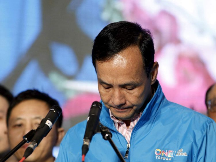 Eric Chu concedes defeat in the elections in Taipei