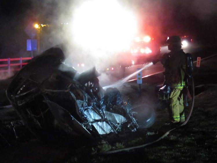 Jamie Foxx Crash Rescue California