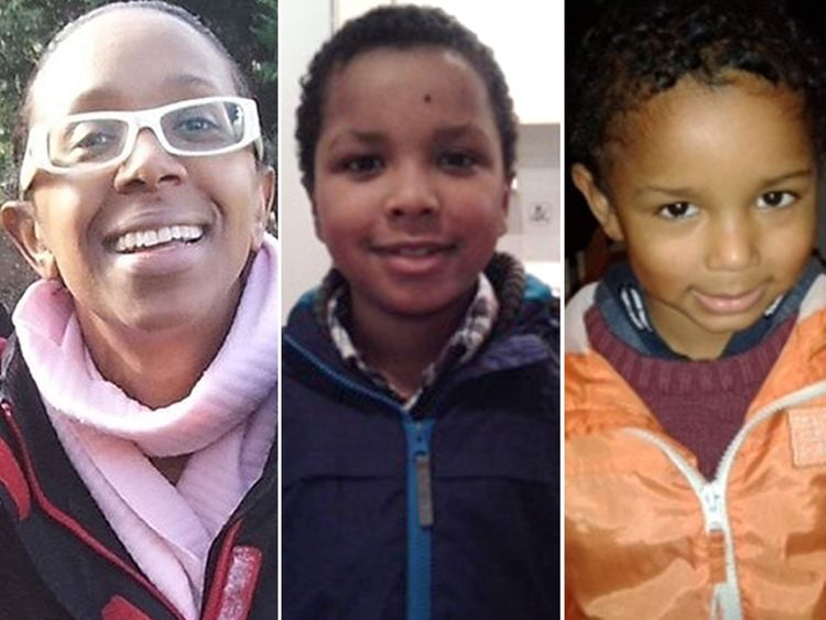 Sian Blake and her children