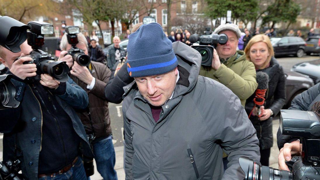 Boris Johnson arriving home.