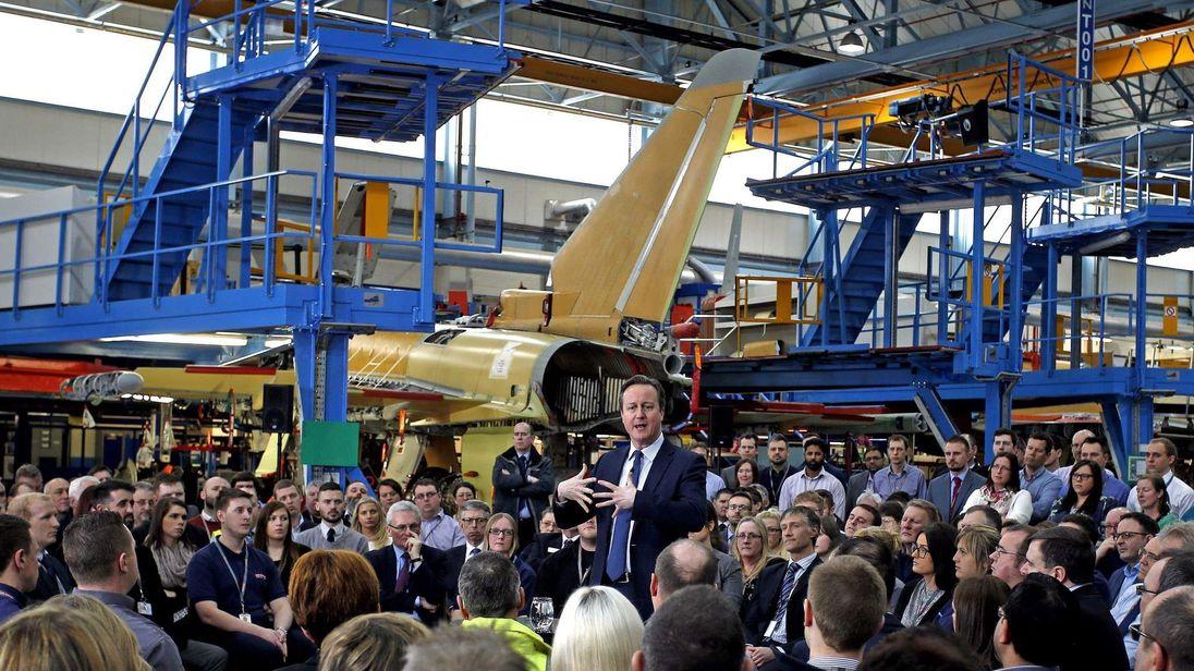 David Cameron at BAE Systems