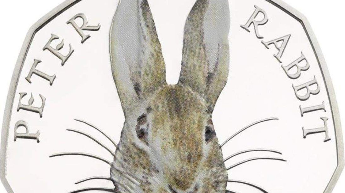 Peter Rabbit to feature on a 50p coin